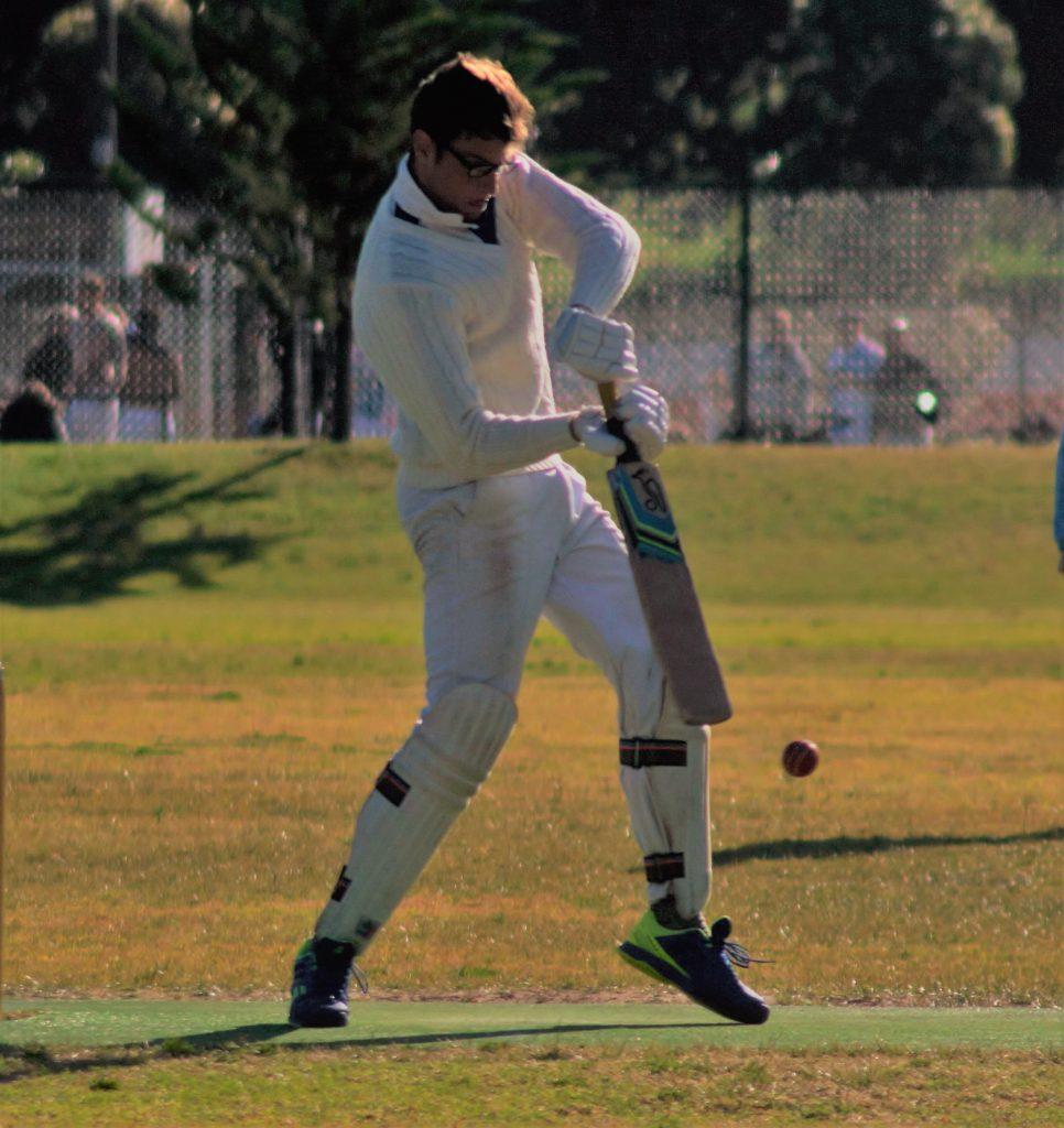 Will Sammuri, recipient of the inaugural Tim 'Webko' Booth Trophy, attempting to cricket