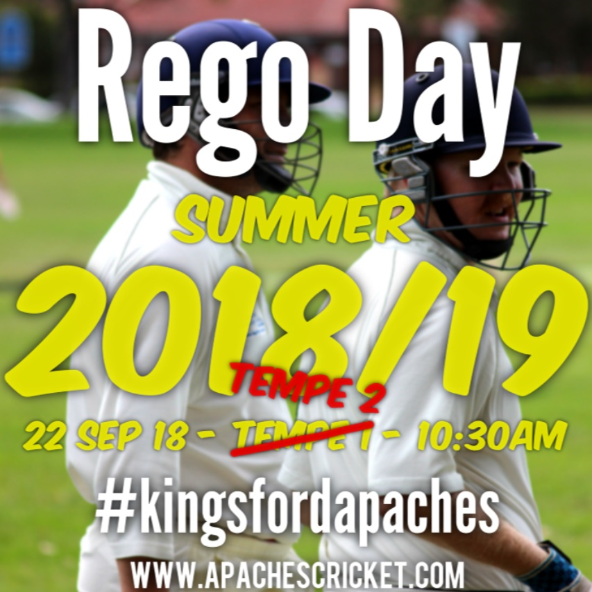 Rego Day Summer 2018/19 22 Sep 18 Tempe 2 10:30 Kingsford Apaches